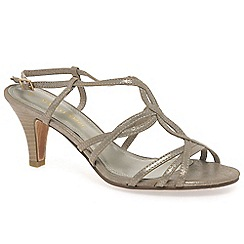 Marco Tozzi - Gold 'Ivah' womens dress sandals
