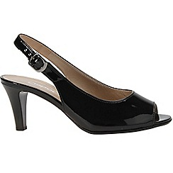 Gabor - Black patent 'Rumble' womens modern sandals