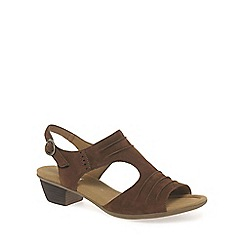 Gabor - Brown 'scrumptious' modern womens sandals