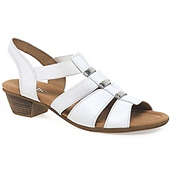 Gabor - White 'Joan' Womens Modern Sandals