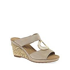 Gabor - Beige 'Sizzle' modern women's sandals
