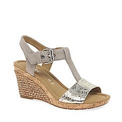 Gabor - Metallic 'Karen' wedge sandals