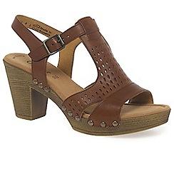 Gabor - Brown 'Kashmir' women's modern buckle fastening sandals