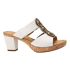 Gabor - White 'illuminate' women's modern sandals
