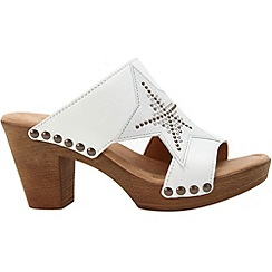 Gabor - White 'Lerwick' womens modern sandals