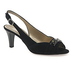 Gabor - Black 'scamp' women's open sling back court shoes