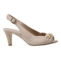 Gabor - Beige 'scamp' women's open sling back court shoes
