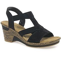 Rieker - Black 'Breeze' womens fashion sandals