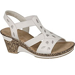 Rieker - White 'Bubble' womens sling back sandals