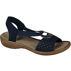 Rieker - Navy 'New york' womens sandals