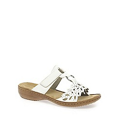 Rieker - White 'Leaf' womens sandals