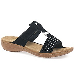 Rieker - Black 'Pure' womens sandals
