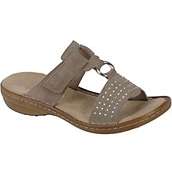 Rieker - Beige 'Pure' womens sandals