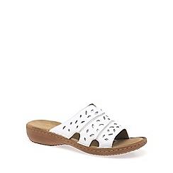 Rieker - White 'Avara' Womens Sandals