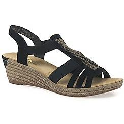 Rieker - Black 'Wave' womens sandals