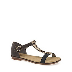 Rieker - Black 'Wave' womens sandals