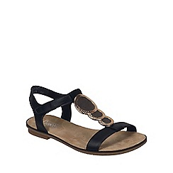 Rieker - Black 'Gold' Womens Sandals
