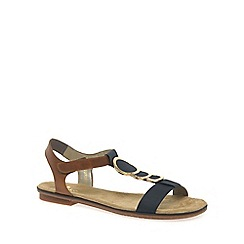 Rieker - Navy 'Gold' womens sandals