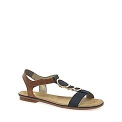 Rieker - Navy 'Gold' womens sandals