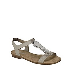 Rieker - Beige 'Gold' Womens Sandals