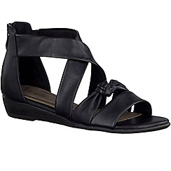 Marco Tozzi - Black 'Jules' womens sandals