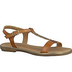 Marco Tozzi - Brown 'Mimi' womens buckle fastening sandals