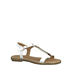 Marco Tozzi - White 'Mimi' womens buckle fastening sandals