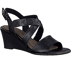 Marco Tozzi - Black 'Miranda' womens casual sandals