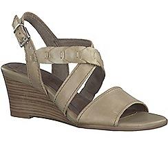 Marco Tozzi - Beige 'Miranda' womens casual sandals