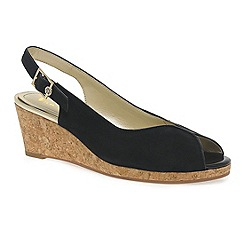 Van Dal - Black 'Gable' Womens Slingback Wedges