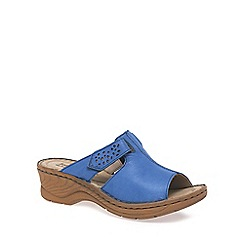 Josef Seibel - Blue 'Catalonia' Womens Velcro Fastening Sandals