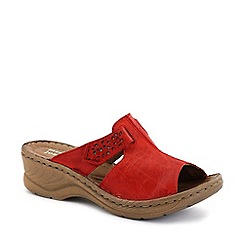 Josef Seibel - Red 'Catalonia' Womens Rip Tape Fastening Sandals