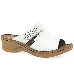 Josef Seibel - White 'Catalonia' Womens Rip Tape Fastening Sandals
