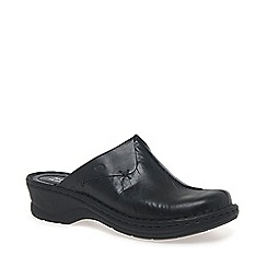 Josef Seibel - Black 'Cerys' Womens Leather Clogs