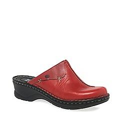 Josef Seibel - Red 'Cerys' Womens Leather Clogs