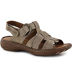 Josef Seibel - Beige 'debra' womens leather t-strap sandals