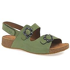Josef Seibel - Green 'Tonga' women's buckle fastening sandals