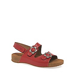 Josef Seibel - Red 'Tonga' Womens Buckle Fastening Sandals