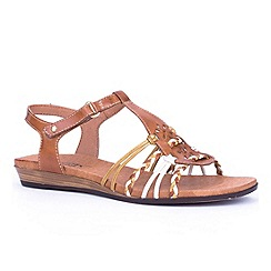 Pikolinos - Brown 'Alice II' womens leather sandals