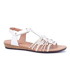 Pikolinos - White 'Alice II' womens leather sandals