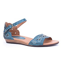 Pikolinos - Blue 'Annie' womens buckle fastening sandals