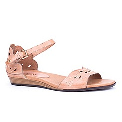 Pikolinos - Natural 'Annie' womens buckle fastening sandals
