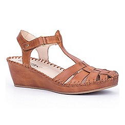 Pikolinos - Brown 'Margarita' womens wedge sandals