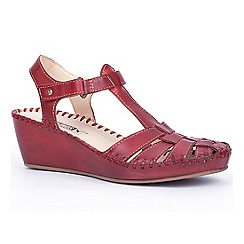 Pikolinos - Red 'Margarita' womens wedge sandals