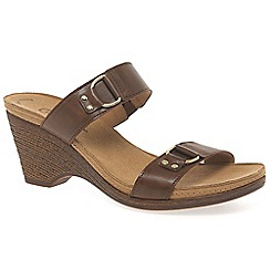 Gabor - Brown 'Salute' womens leather mules