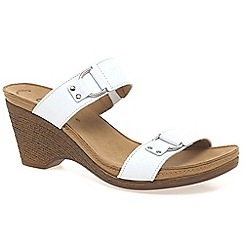 Gabor - White 'Salute' womens leather mules