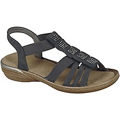 Rieker - Grey 'Stear' womens sandals