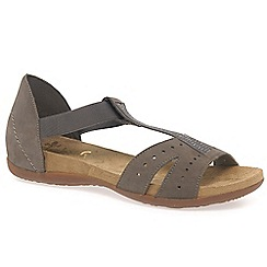 Rieker - Beige 'Almond' womens fashion sandals