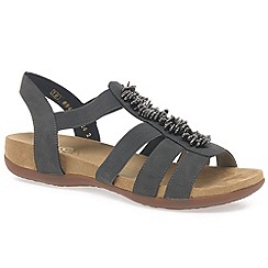 Rieker - Grey 'Hazel' womens casual sandals