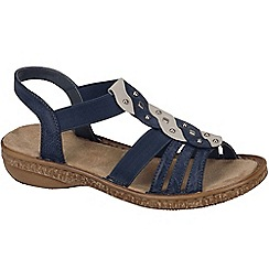 Rieker - Blue 'Dusty' womens sling back sandals